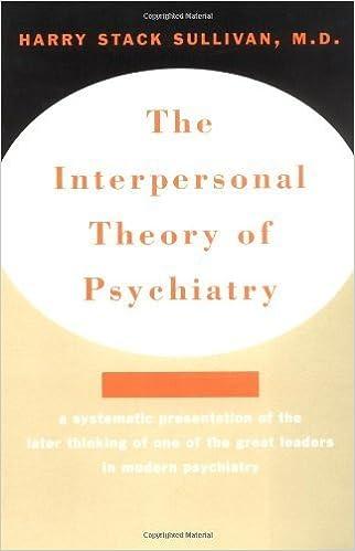 Liste de livres électroniques téléchargeables gratuitement The Interpersonal Theory of Psychiatry by Harry Stack Sullivan (1968-09-17) PDF