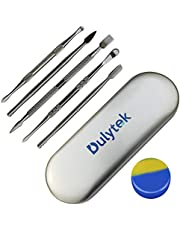 Dulytek 6-Piece Wax Carving & Collecting Tool Set with Silicone Jar and Metal Carrying Case