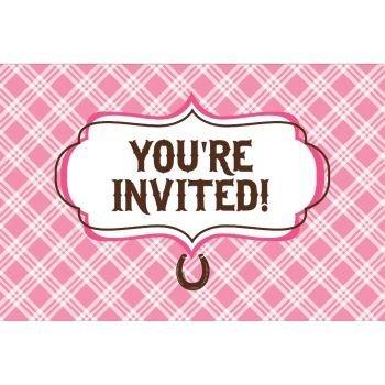 Gatefold Invites - Heart My Horse Invitation Gatefold (8) Invites Birthday Party