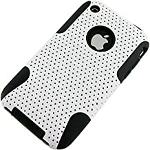 Aimo Wireless IPHONE3GSPCPA008 Hybrid Armor Cheeze Case for iPhone 3G/3GS - Retail Packaging - Black/White