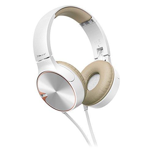 Pioneer Headphone SE-MJ722TT with Microphone (White Brown) - Pioneer Outdoor Equipment
