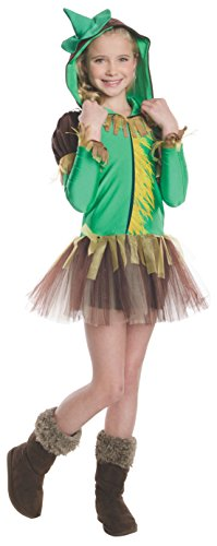 Girl Costume Farmer Halloween (Rubies Wizard of Oz Scarecrow Hoodie Dress Costume, Child)