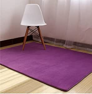 Ustide Purple Coral Fleece Carpet For Living Room Coral Fleece Bedroom Rug Sets