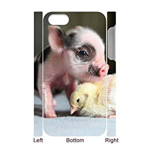 3D Bumper Plastic Case Of Cute Pig customized case For Iphone 4/4s by supermalls