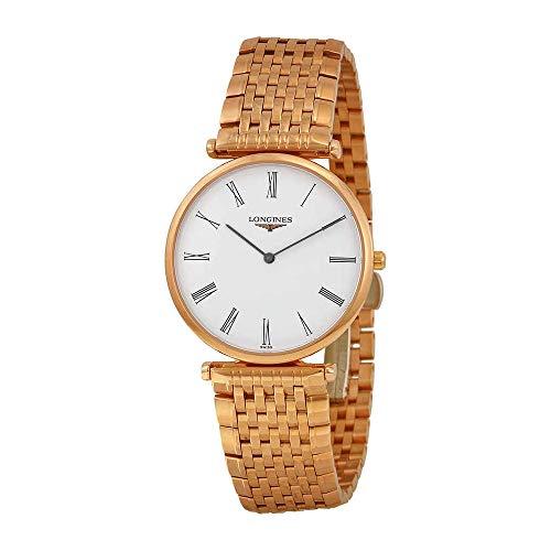Longines La Grande Classique White Dial 18kt Rose Gold-plated Ladies Watch L47091918