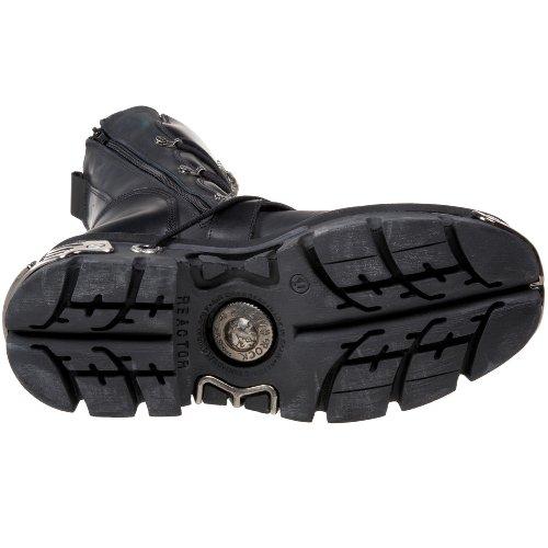 Black M 373 Metallic Botas Cuero New Negro Rock Black s4 gAR6wqU