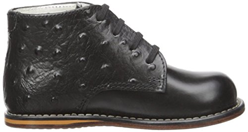 Stiff High Walking Top Shoes Black Josmo With Ostrich Early Sole 8190 4wqat0g