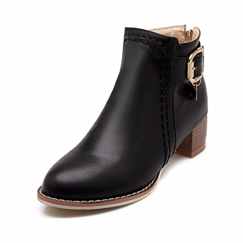 Black with boots In Terry belt autumn the and buckle winter size lady boots ZSP4a