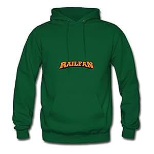 Women Cool Stylish Rickwise X-large Customizable Railfan Green Hoody