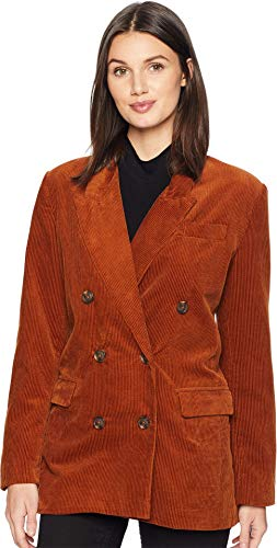 Blank Denim Women's Corduroy BF Blazer, Clockwork Copper, Tan, Brown, -