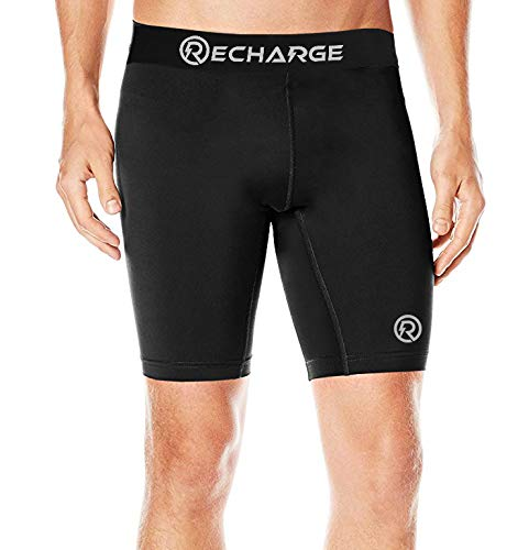 Recharge Men Polyester Compression Sports Shorts Half Tights Price & Reviews