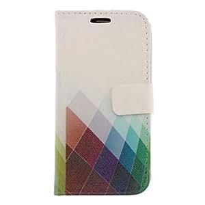 Patrš®n Grids Dibujo colorido de cuero de imitaciš®n de plš¢stico duro bolsas para Samsung Galaxy S3 I9300