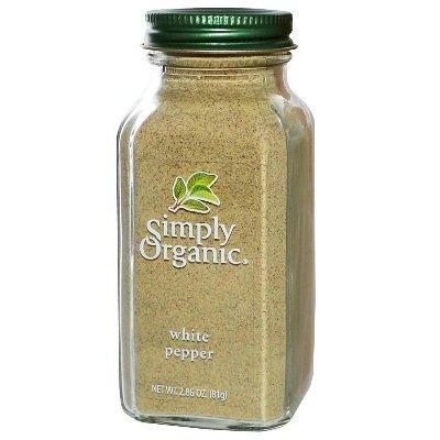 Simply Organic White Pepper, 2.86 Ounce - 6 per case.
