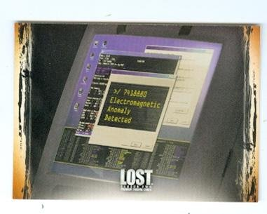 Lost trading card 2006 Inkworks Season two #90 Checklist The Computer in the Hatch - Computer List