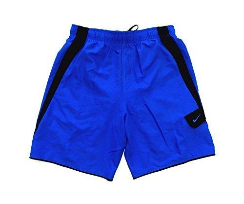 Nike Mens Core Colorblock Athletic Swim Shorts NESS6412/13 (Medium, Blue/Black)