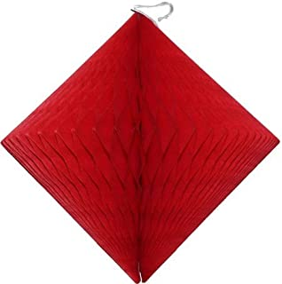 product image for 3-Pack 12 Inch Red Diamond Honeycomb Decorations