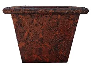 Rustique Planter, Knobby Rust, 14-Inch