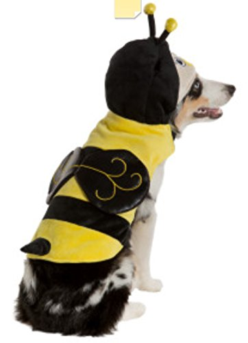 Pet Halloween Bumblee Bee Stinger Dog Costume Size X-Small XS Yellow Black with Hoold Fashion Dog Clothing (Bumblee Bee Costume)