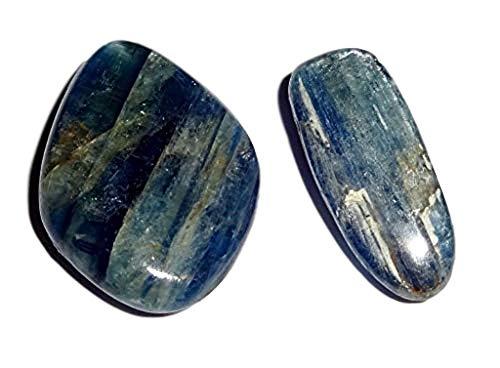 (Sublime Gifts 2pc Blue Kyanite A Grade Tumbled & Polished / Natural Healing Crystal Gemstones)
