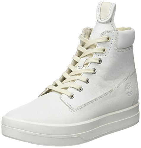 Timberland Mayliss 6 In Bootwhite Mystic Full Grain, Botines para Mujer Blanco (White Mystic Full Grain)