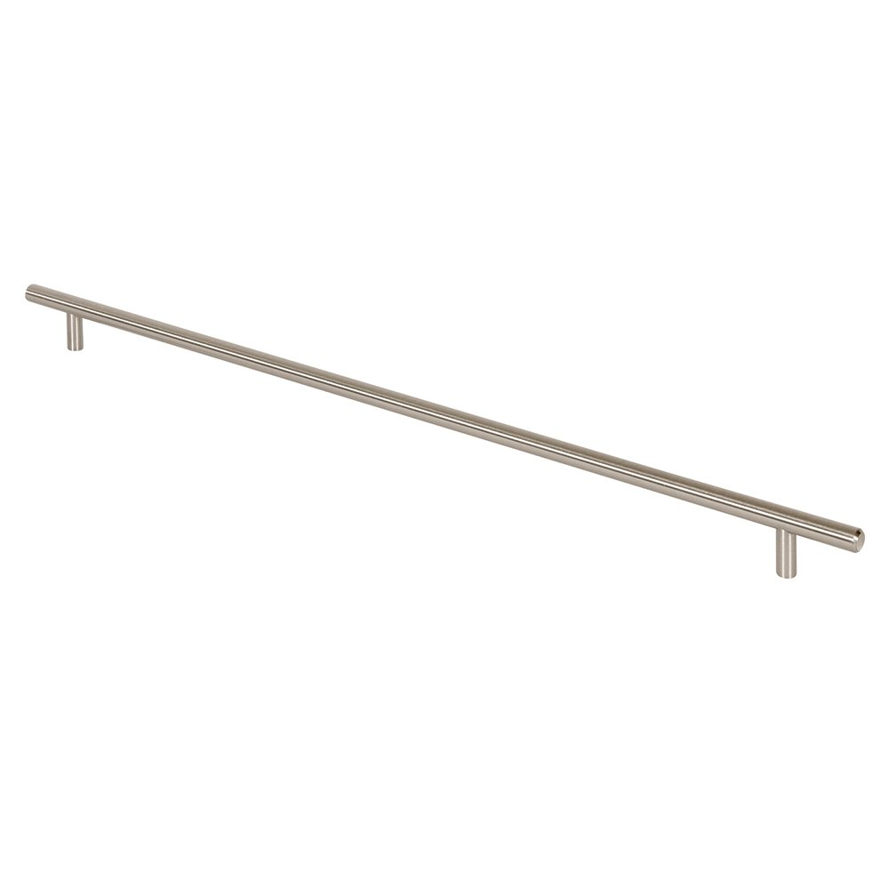 Satin Nickel Prime-Line Products KD 17507 Bar Pull 18-Inch OL x 15-Inch CC x 12mm Dia