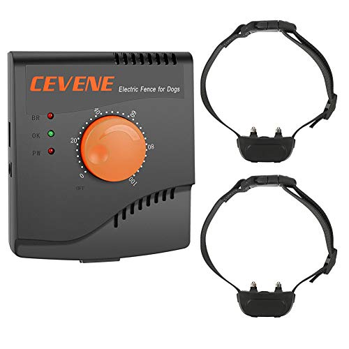 CEVENE Electric Dog Fence,Upgraded Aboveground/Underground Dog Containment System(IP66 Waterproof and Rechargeable Collar,Shock/Tone Correction,Solid Copper Wire,for 2 Dogs) (Best Behaved Cat Breeds)