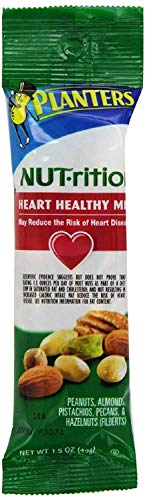 Planters Nutrition Heart Healthy Mix, 1.5 Ounce, 72 Bags Total by Planters (Image #1)