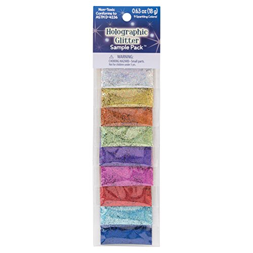 Sulyn Holographic Glitter Sample Pack, Non-Toxic Variety Pack, 9 Assorted Colors, 0.63 Ounces, 18 Grams, SUL6654-97