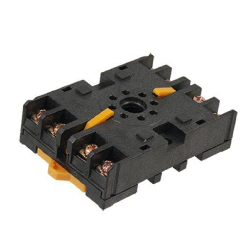 8 Pin Octal Base - uxcell 8 Pin Relay Socket Octal Base DIN Rail 1pcs