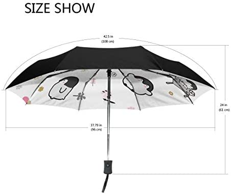 Chovy 折りたたみ傘 軽量 自動開閉 晴雨兼用 レディース 日傘 UVカット 遮光 ワンタッチ メンズ ペンギン 花柄 おもしろ かわいい 可愛い 雨傘 傘 晴雨傘 折り畳み 8本骨 遮熱 丈夫 耐風撥水 収納ポーチ付き プレゼント