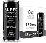 Kitu Super Espresso, SugarFree Keto Coffee Cans (0g Sugar, 0 Calories) [Triple Shot] 6 Fl Oz, 12 Pack | Iced C