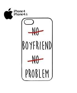 No Boyfriend No Problem Cell Phone Case Cover iPhone 4&4s White