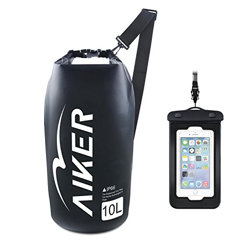 83d3b4f0c5 AIKER Dry Bag - Waterproof Bag 10L With IPX8 Waterproof Case