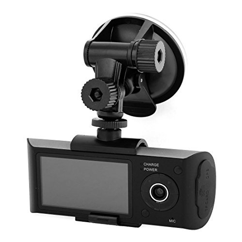 LCD de 2,7 TFT 16: 9 Wide Screen Dual Lens carro DVR Camcorder GPS Recorder