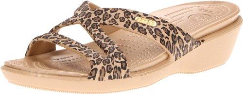 crocs Women's Patricia II Sandal,Gold/Black,11 M US