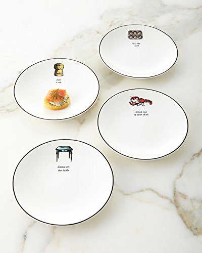 Tidbit Plate Set (kate spade new york Concord Square Cause A Stir Tidbit Plates, Set of 4)