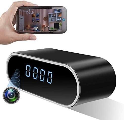 LIVCRT [Upgraded] Wireless Hidden Camera Clock Motion Detection Alarm Clock Camera Spy Camera Clock with Night Vision HD Recording Camera Clock Spy Camera & Hidden Cam Remote Via Android/iOS/PC