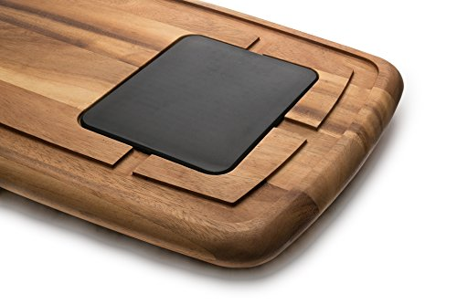 Ironwood Gourmet 28671 Memphis Board With Insert, Acacia Wood Ironwood Gourmet Acacia Wood