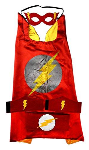 MyTinyHeroes Children's Superhero Costume -5 Pc Set - DC Comics - Flash (Flash Costume Child)