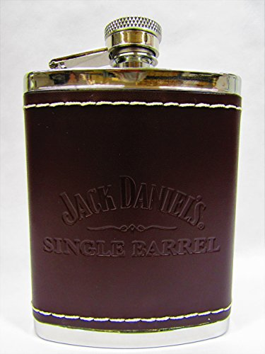 Used, Jack Daniels Single Barrel Leather Wrapped 6 Ounce for sale  Delivered anywhere in USA