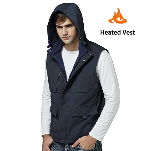 GLOBAL VASION Electric Warmer Rechargeable Heated Vest With 3 Heat Settings (XL)