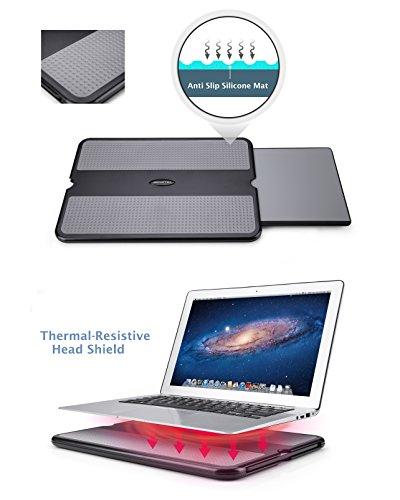 Abovetek Portable Laptop Lap Desk W Retractable Left