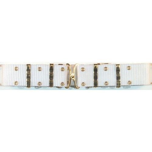 Ultimate Arms Gear White Nylon Pistol Belt - Metal - Buckle Belt Arms