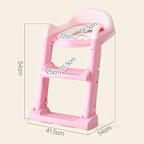 XWJC Children's Toilet Toilet Baby Toilet Seat Baby Toilet Ladder Child Toilet Seat Soft Cushion (Color : Pink) by XWJC (Image #7)