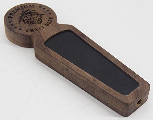 Beer taps handle Set of 4, Kegerator Beer Tap Handles with chalkboard, Unique Wooden Beer Taps 8.3'' Length, Premium Craft Beer, Made of natural Walnut Wood … by Sweetheart (Image #3)