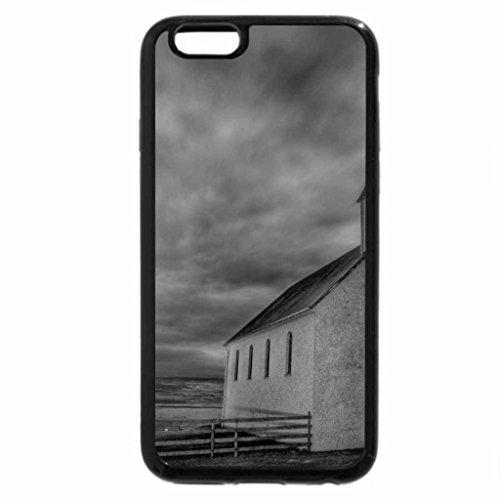 iPhone 6S Plus Case, iPhone 6 Plus Case (Black & White) - Abaondoned Church on the Icelandic Tundra HDR