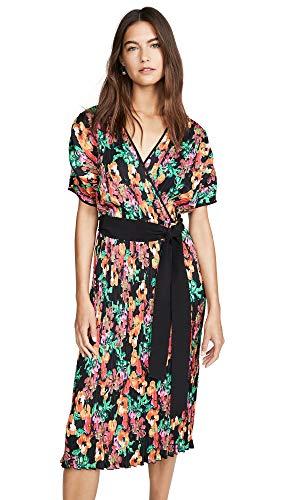 Diane von Furstenberg Women's Autumn Dress, Watercolor Floral Black, - Long Diane Furstenberg Von Dress