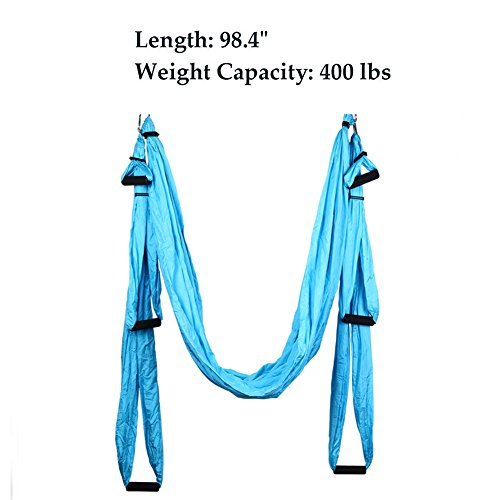 Budalga Yoga Swing Sling Trapeze Inversion Equipment Flying Yoga Hammock Anti-Gravity by Budalga (Image #4)
