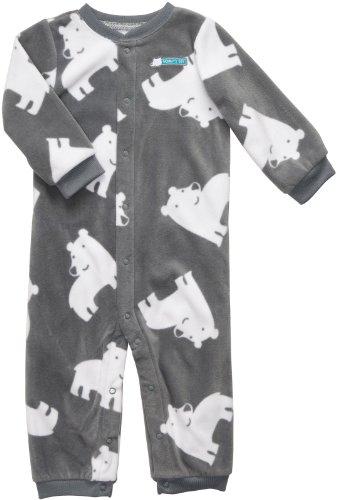 Carter's Infant Boys Polar Bear Long Sleeve One Piece Snap Fleece Coverall Size 9Mos