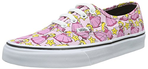 Vans Unisex Nintendo Authentic Princess Peach Sneaker - 5.5 (Vans Peach)